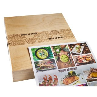 Geschenkset: INDIAN-Box deluxe incl. Holzbox, Inlay & Banderole