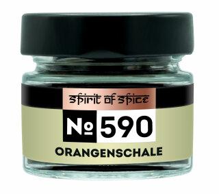Orangenschale - Gewürzglas  (geschnitten)