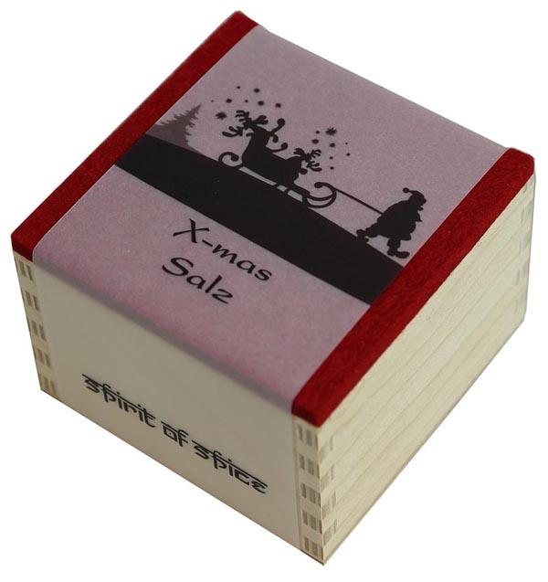 X-mas Salz in der Holz-Geschenkbox von Spirit of Spice