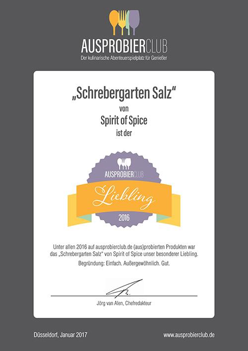 Schrebergarten-Salz Auszeichnung AULI