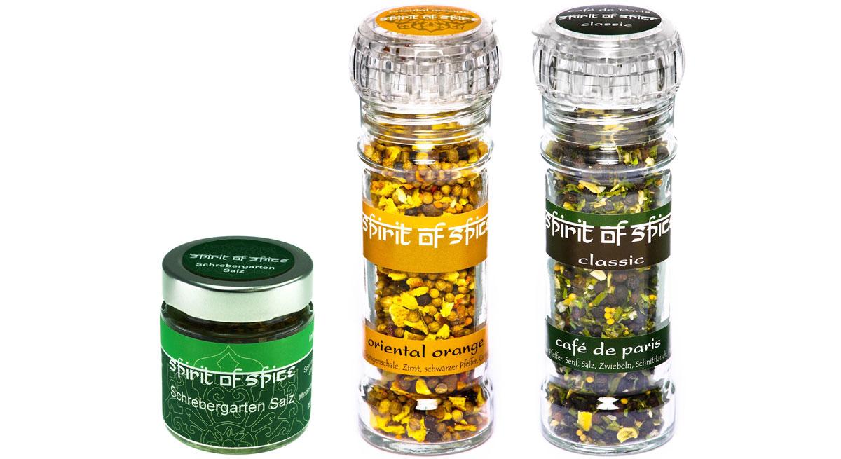 Ruhm und Ehre für Spirit of Spice Schrebergarten Salz, Café de Paris und Oriental Orange