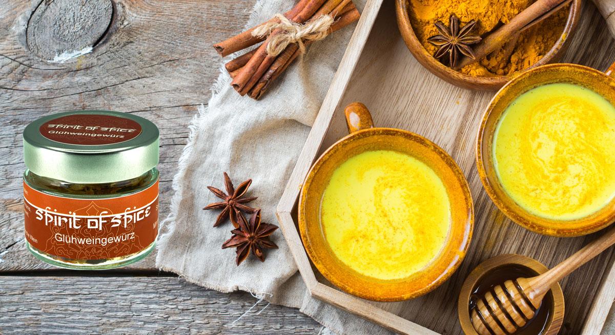 Spirit of Süice golden Milk Rezept mit Glühweingewürz